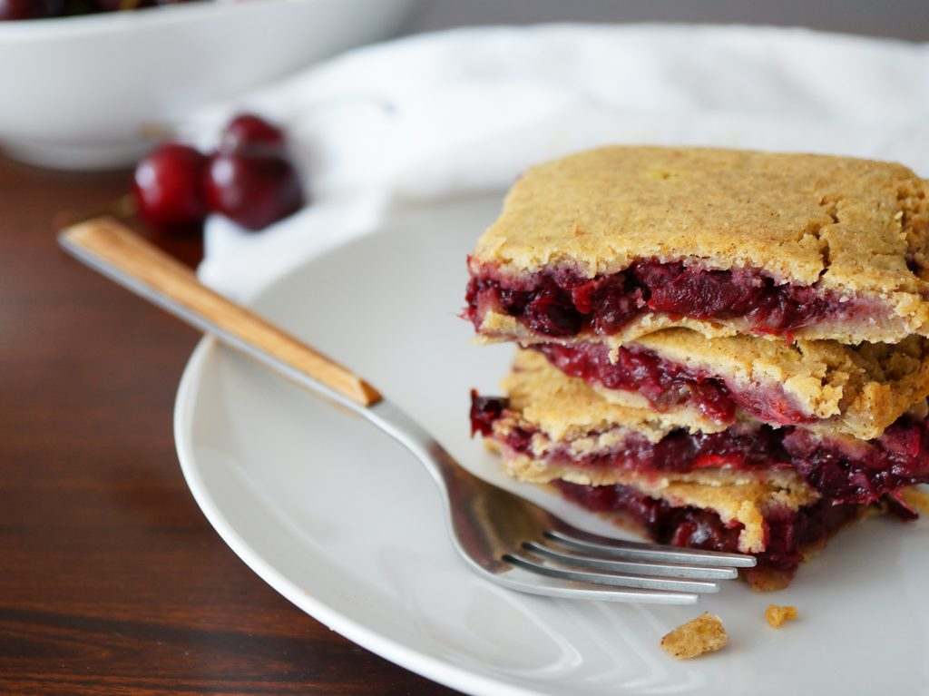 cherry pie bars paleo