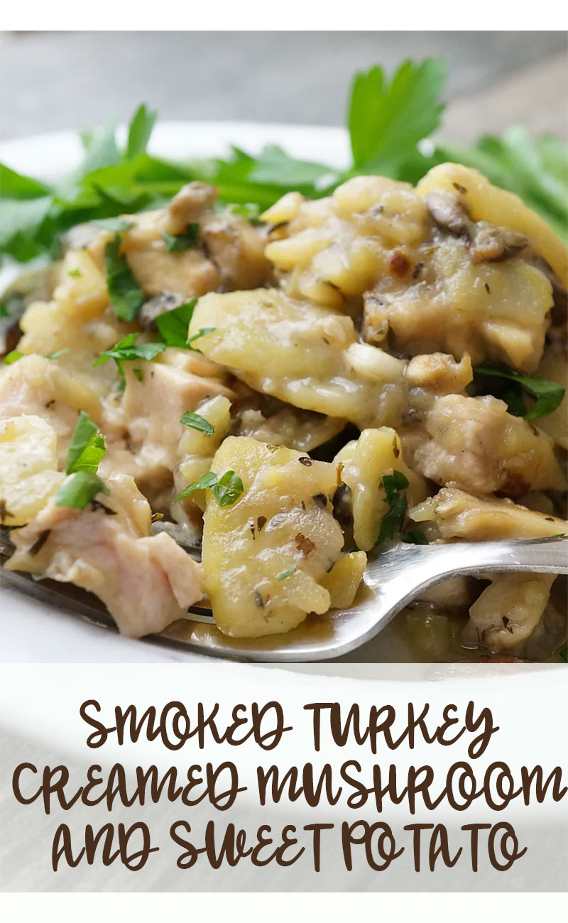 paleo smoked turkey mushrooms