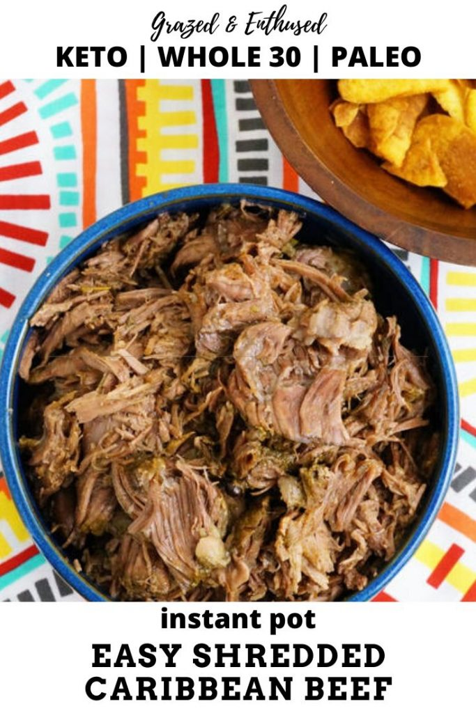 Shredded Caribbean Beef instant pot