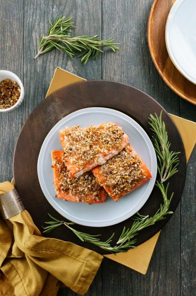 macadamia date salmon