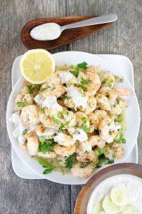 shrimp dairy-free tztaziki
