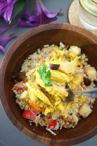 turmeric chicken bowls