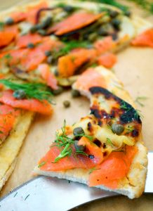 smoked salmon flatbread paleo grain-free aip