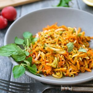 carrot slaw with pesto