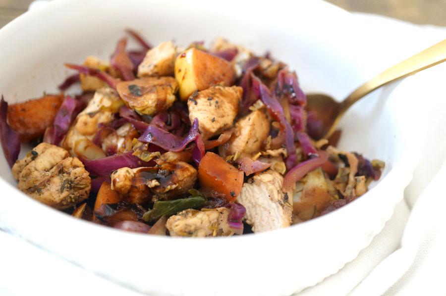 balsamic chicken veggie