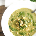 kale pesto chicken soup