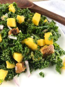 creamy kale salad