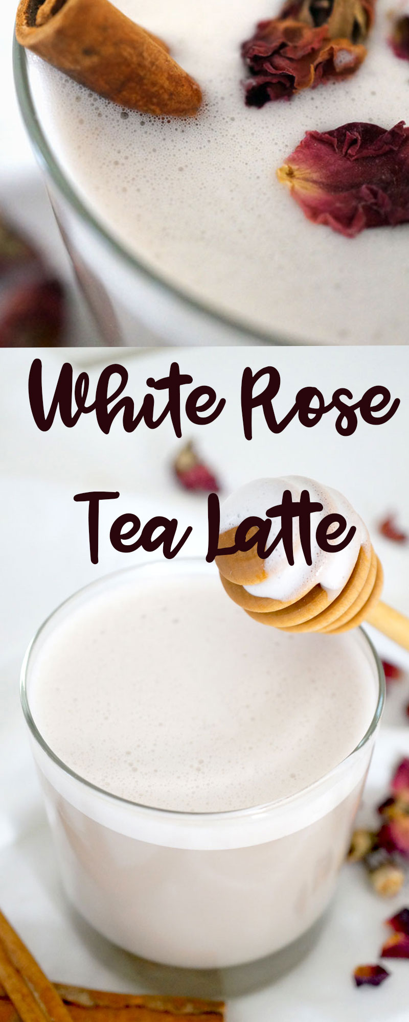 white rose tea latte
