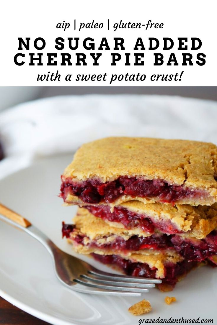 paleo cherry pie bars