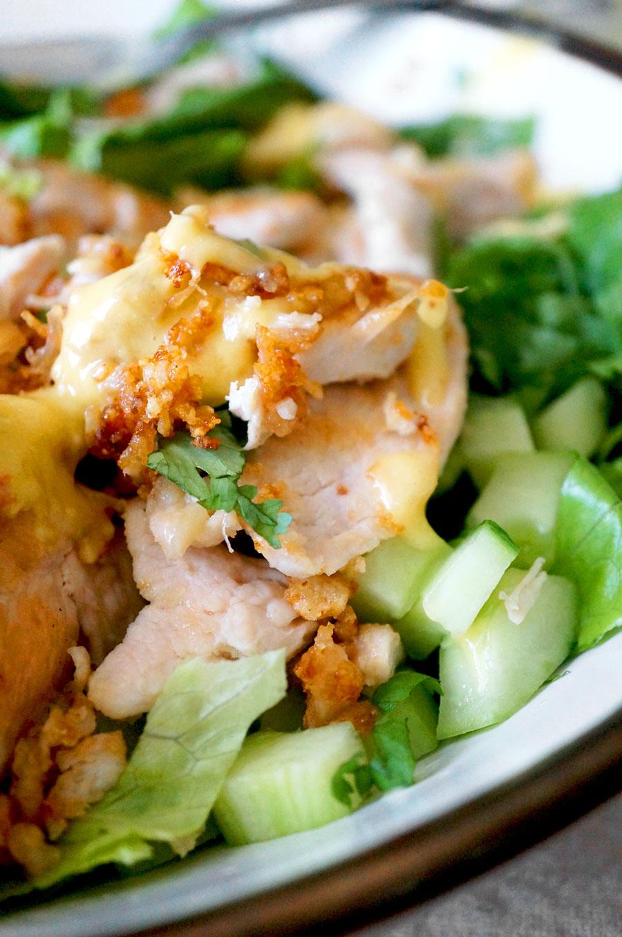 crispy chicken salad gluten free