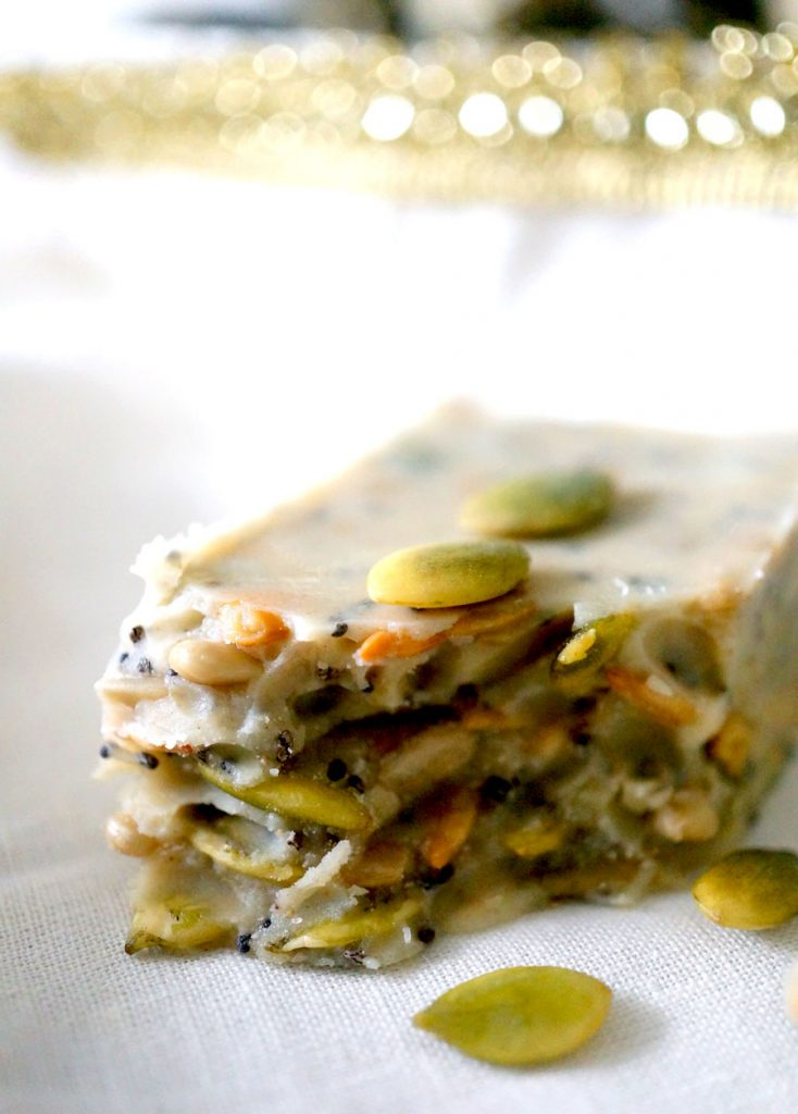white chocolate energy bar
