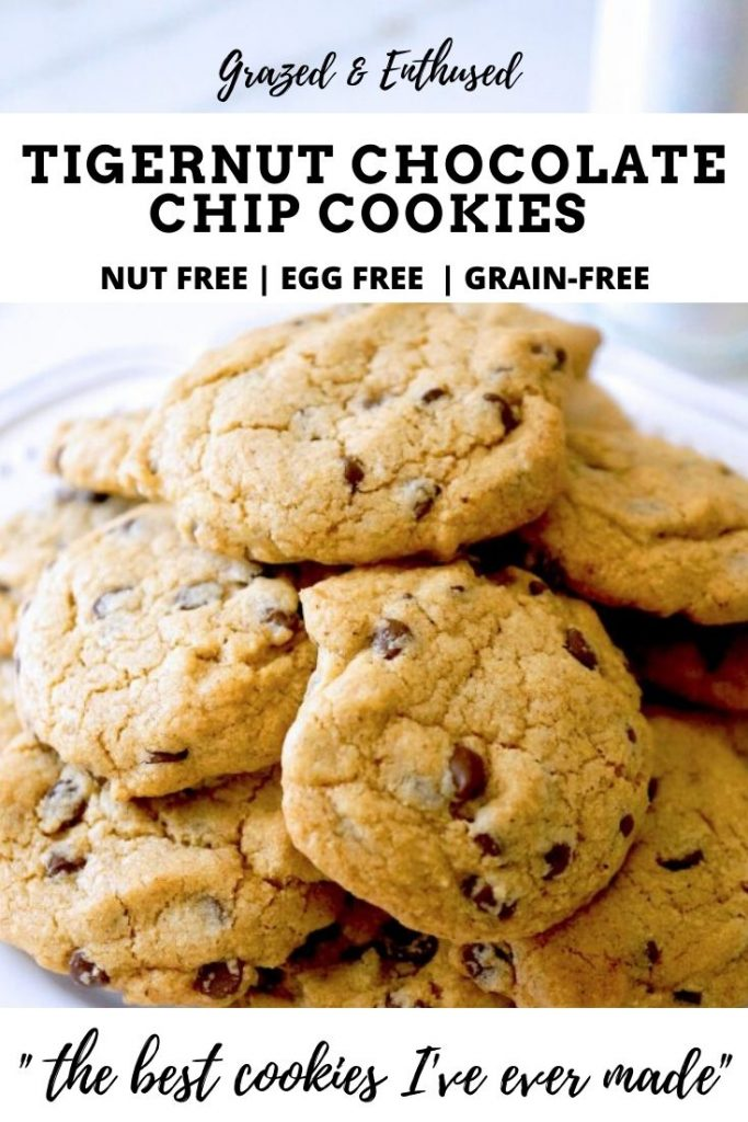 Tigernut Chocolate Chip Cookies- nut-free, egg-free