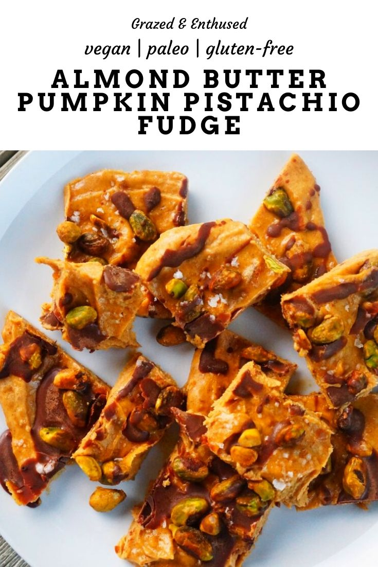 almond butter pumpkin pistachio fudge paleo