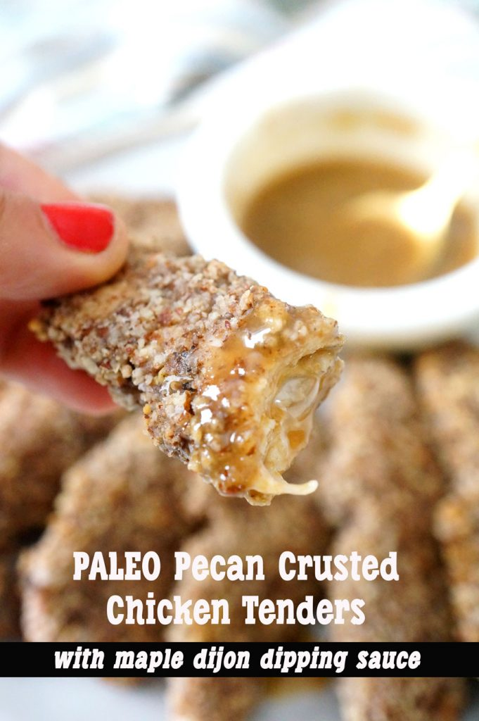 Pecan Crusted Chicken Tenders With Maple Dijon Dipping