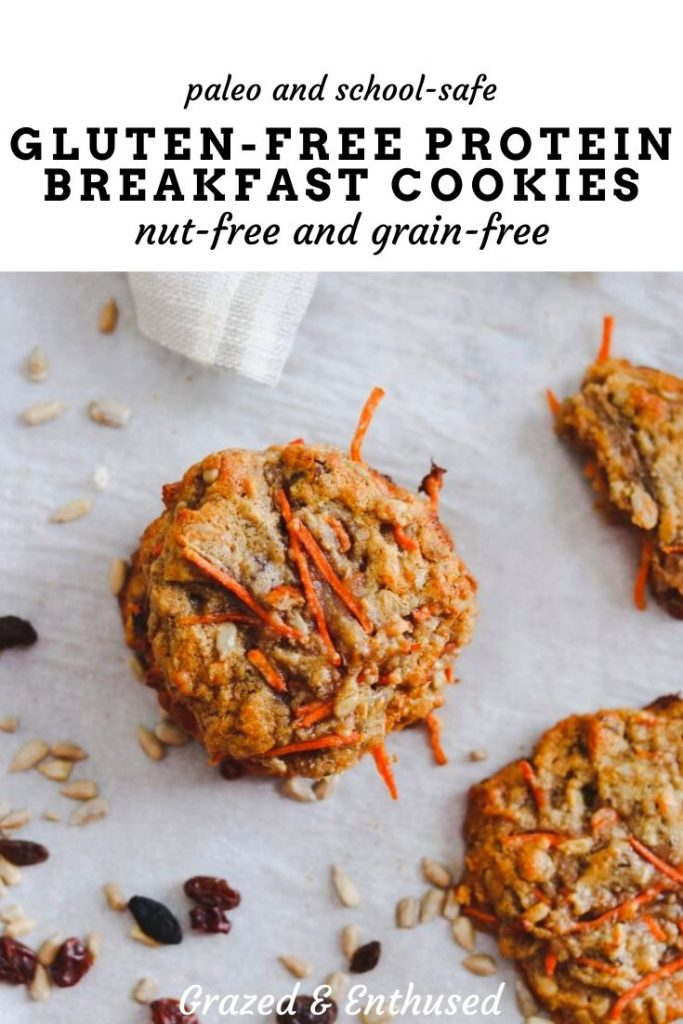 Gluten Free Protein Breakfast Cookies - Grazed & Enthused