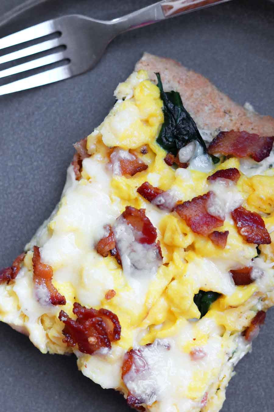 Gluten Free Breakfast Pizza - Make Ahead!