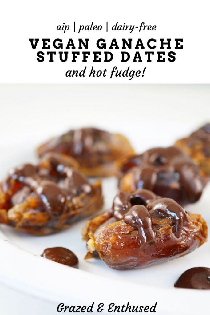 Paleo Vegan Ganache Stuffed Datesz