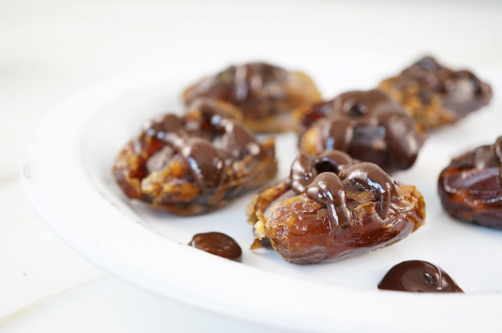 Vegan & Paleo Ganache Stuffed Dates