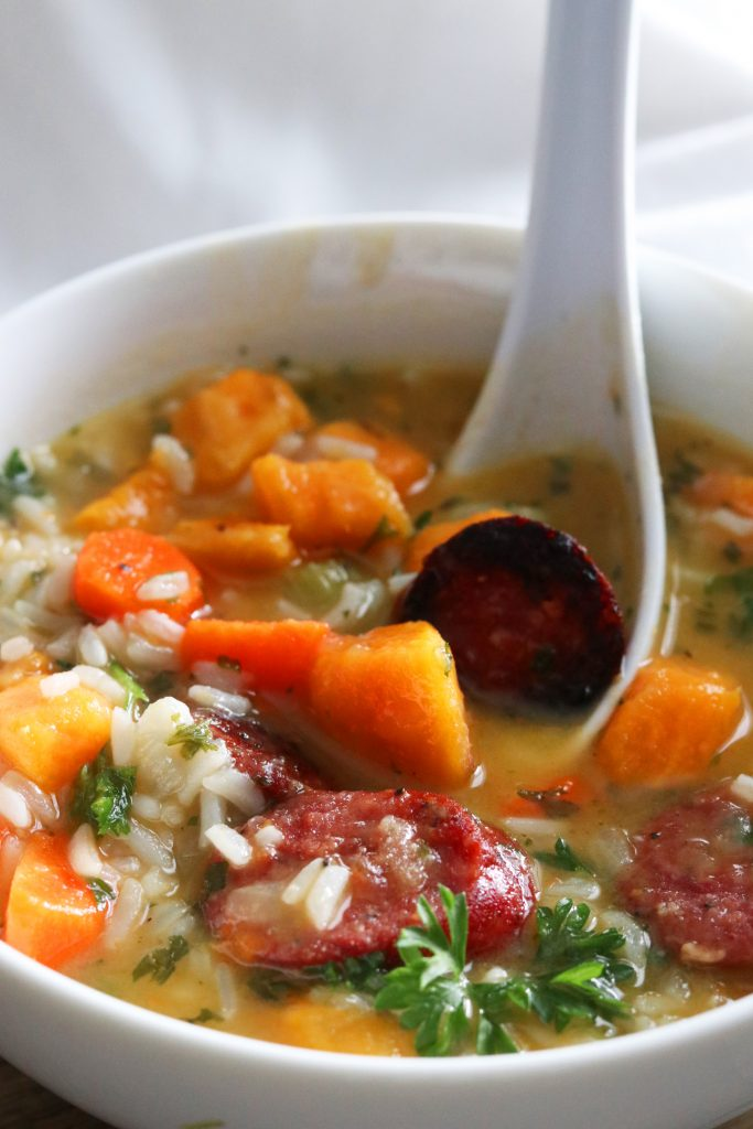 Sausage & Rice Soup - Gluten Free
