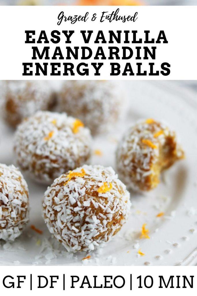 Vanilla Mandarin Energy Balls