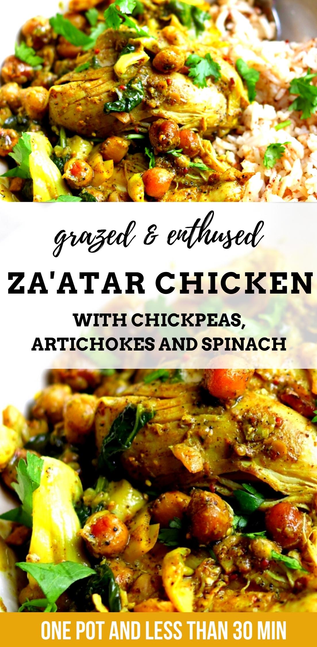 Lebanese Za'atar Chicken Chickpeas Artichokes
