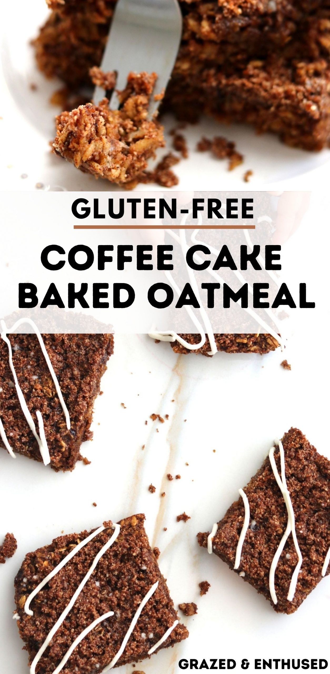 Coffee Cake Baked Oatmeal pin