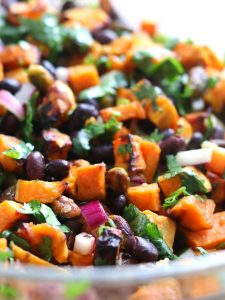 Roasted Sweet Potato and Black Bean Salad