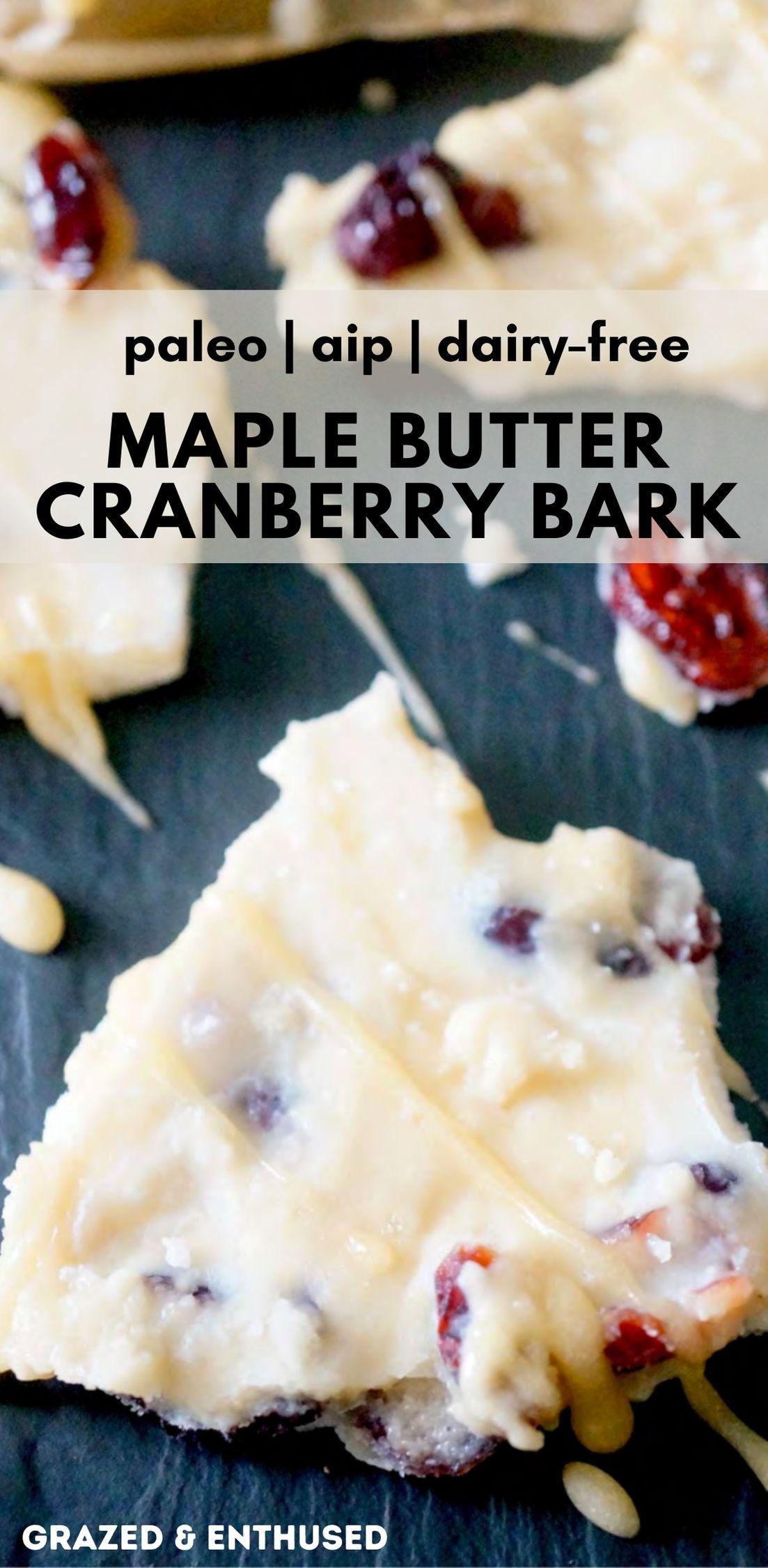 maple butter cranberry bark