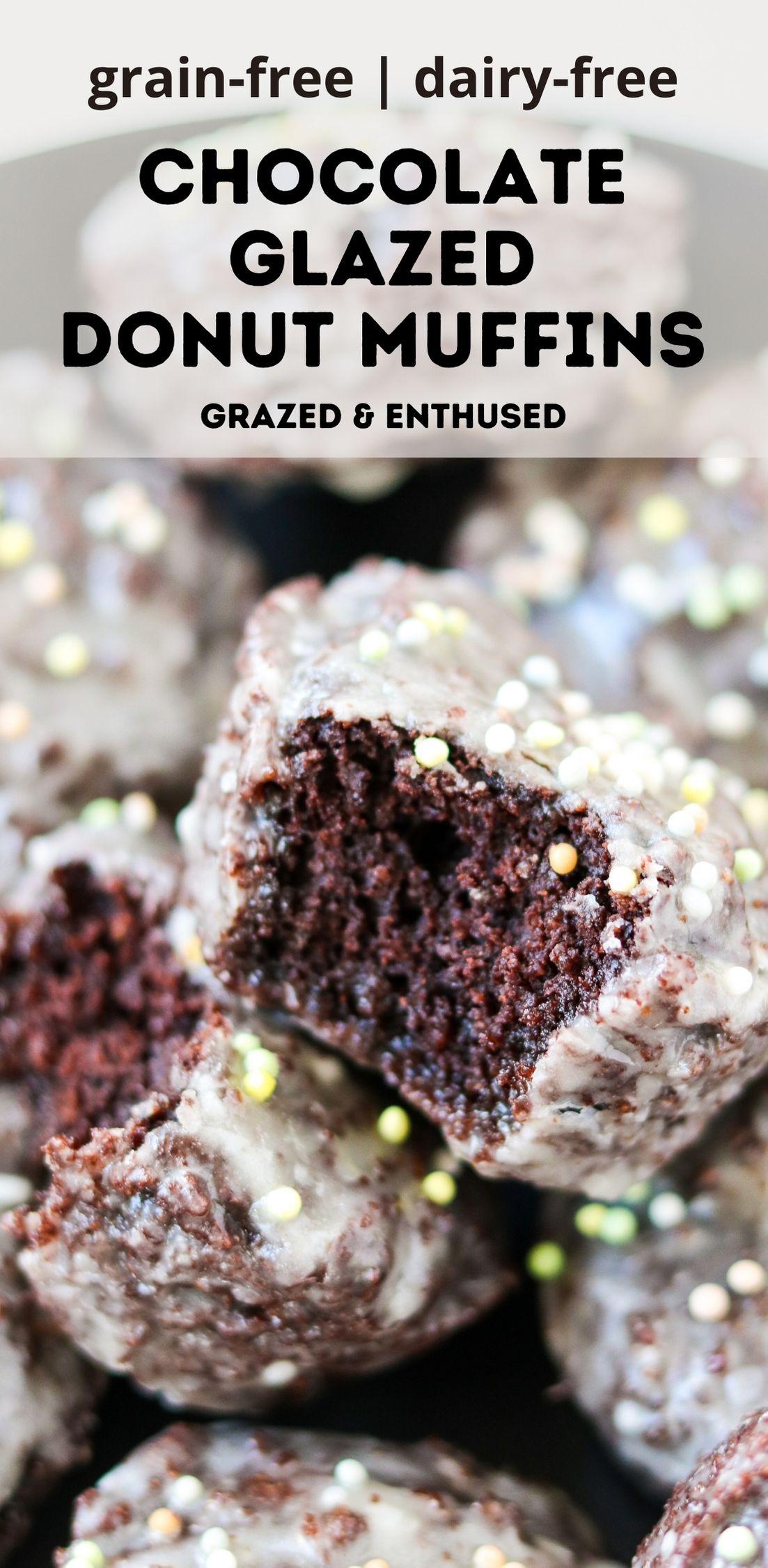 Grain-Free Chocolate Glazed Donut Muffins