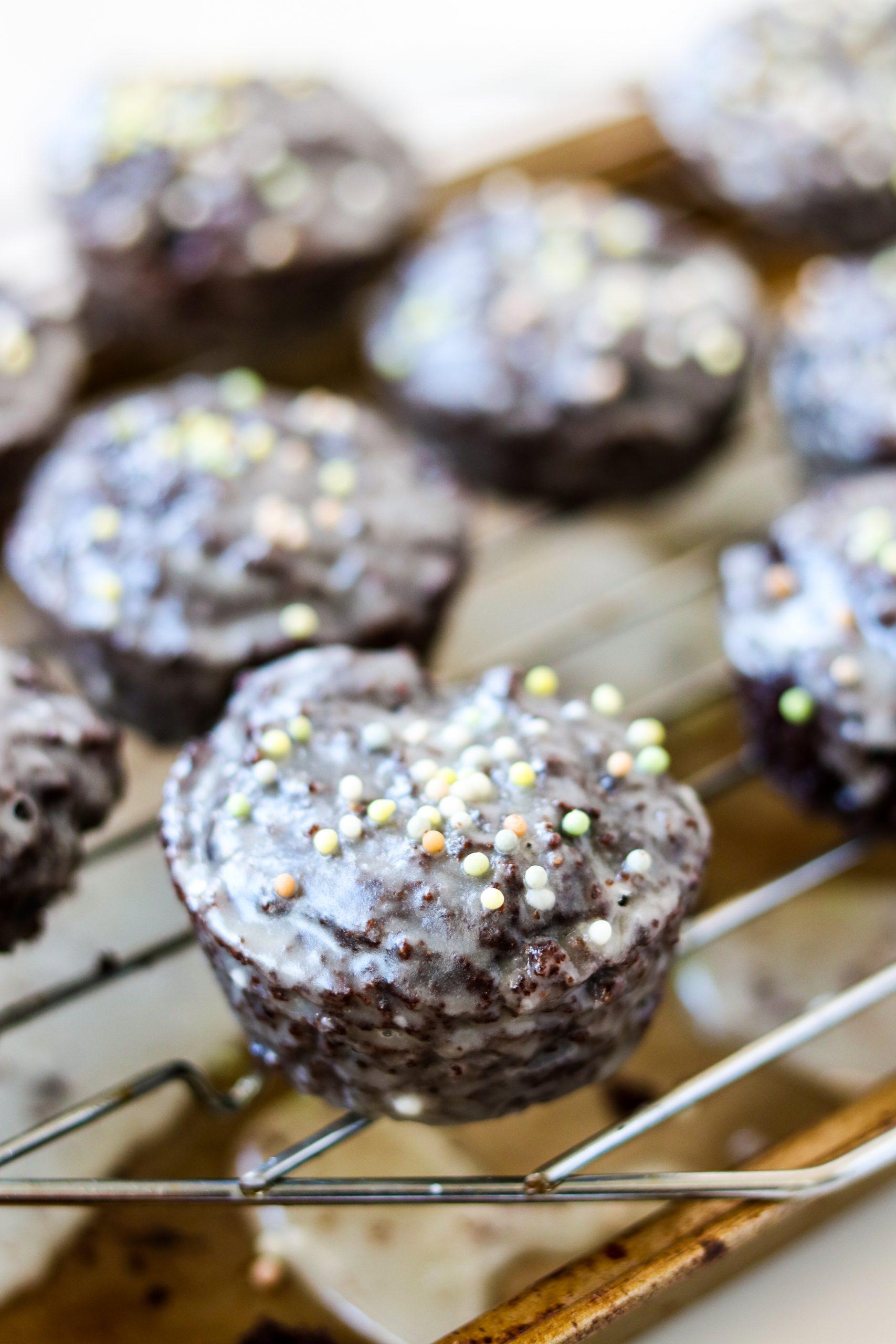 Grain-Free Chocolate Glazed Muffins DF