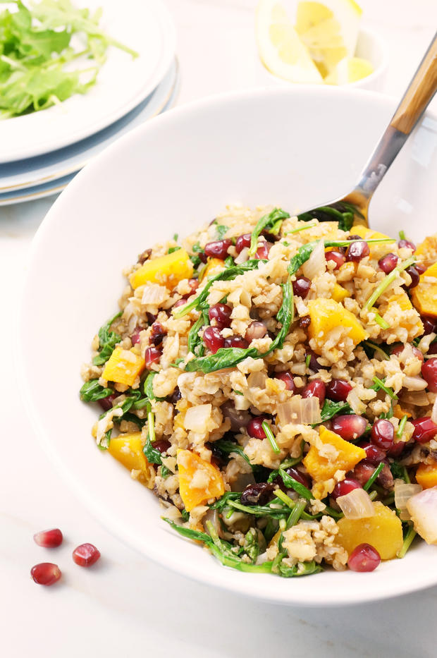 butternut pomegranate salad