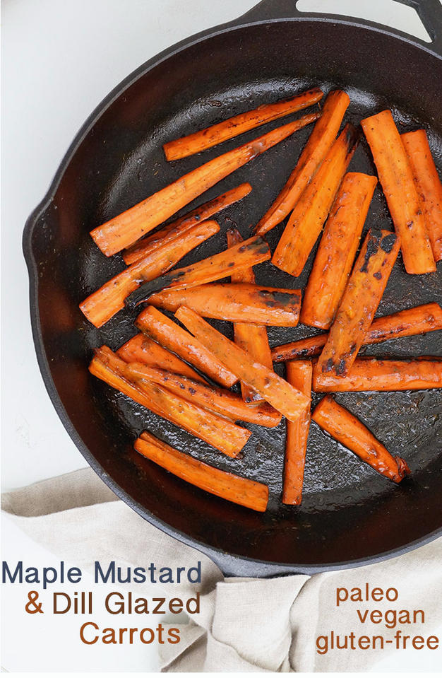 Maple Mustard Dill Glazed Carrots
