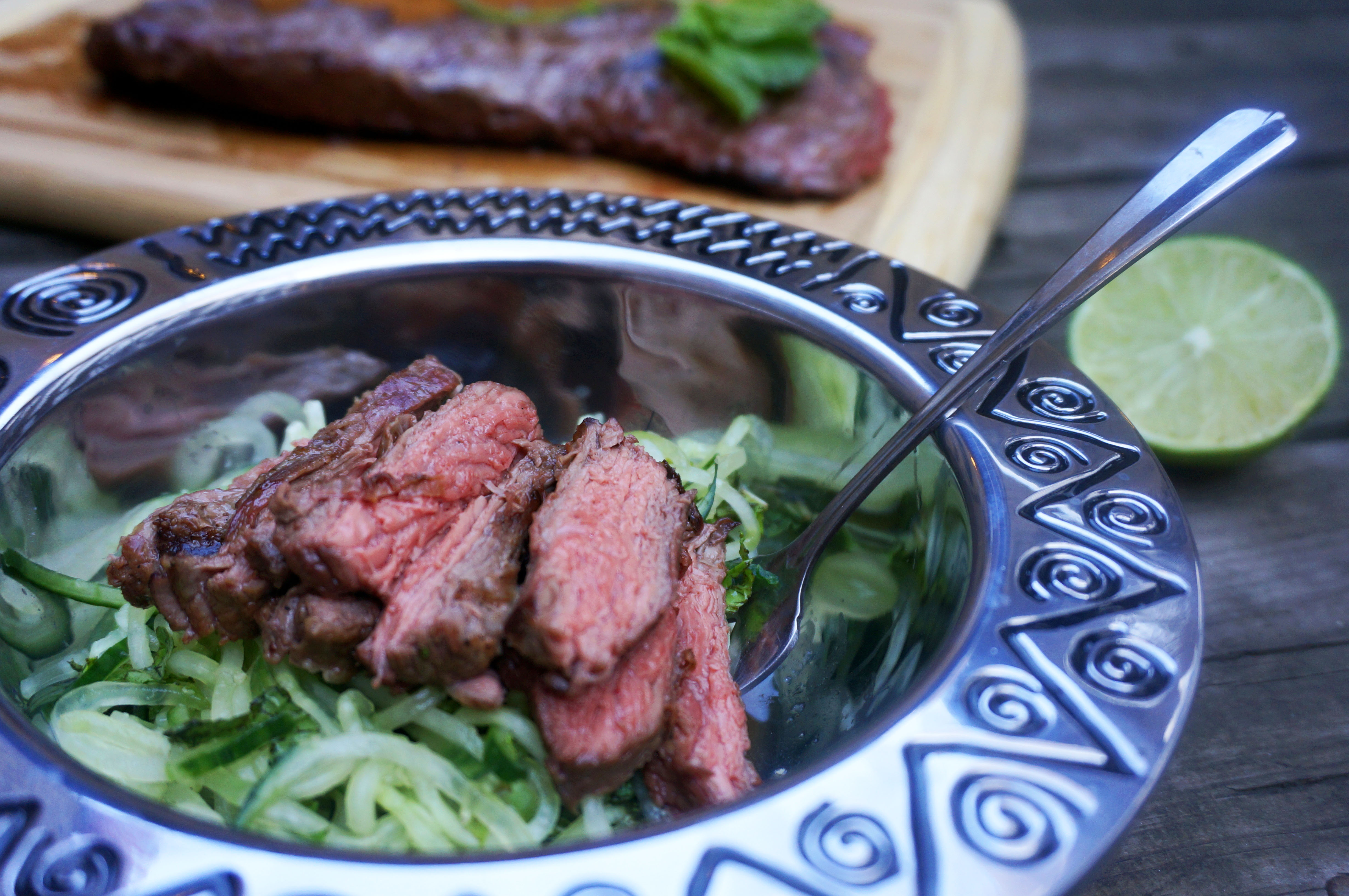 grilled steak bowl paleo
