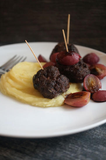 greek meatballs parsnip puree