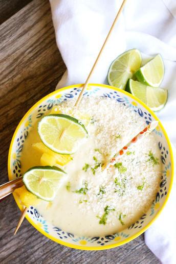 pina colada smoothie bowl - paleo