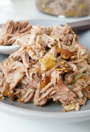 maple bacon balsamic pulled pork