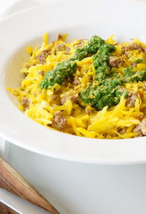 beef butternut pesto
