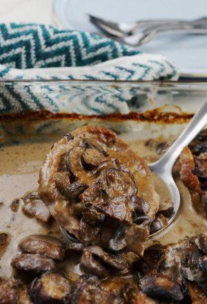 creamy mushroom pork casserole