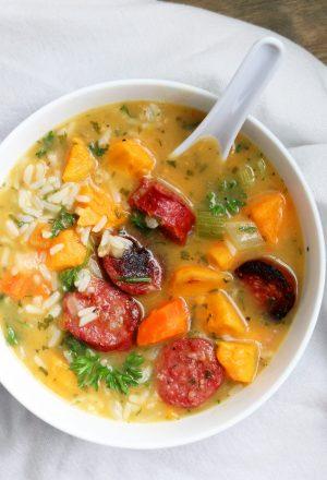 gluten free sausage rice soup