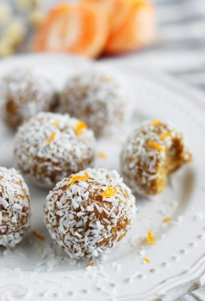 Paleo Vanilla Mandarin Energy Balls
