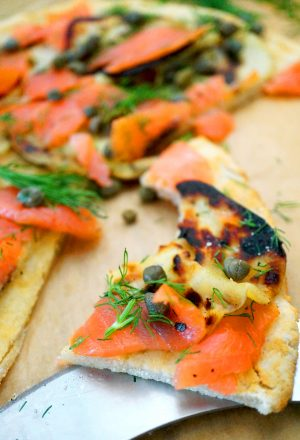 smoked salmon flatbread paleo grain-free aip